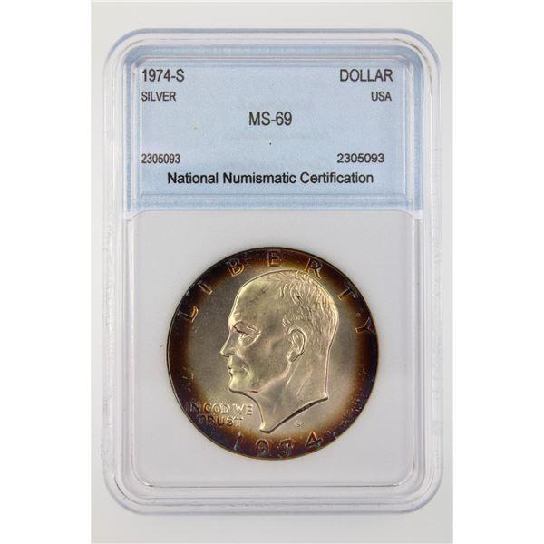 1974-S Ike Dollar NNC MS-69