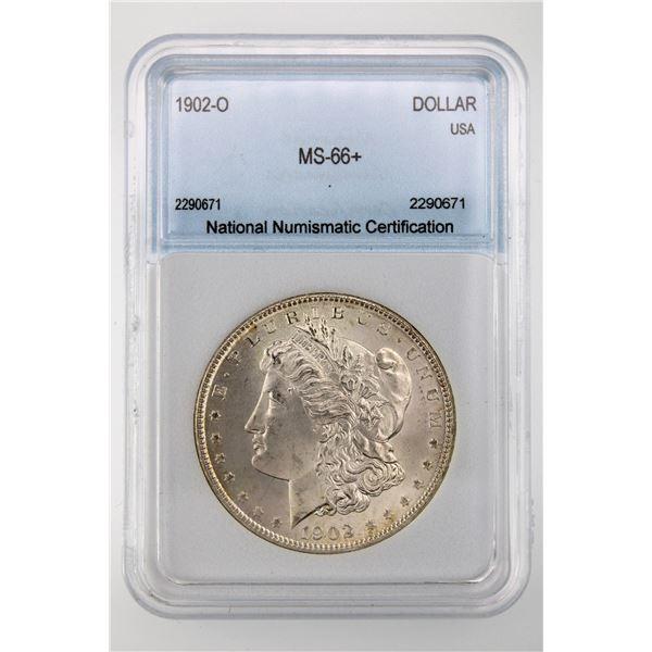 1902-O Morgan Silver Dollar NNC MS-66   Price Guide $1400 BEAUTIFUL W/ LIGHT TONING!!