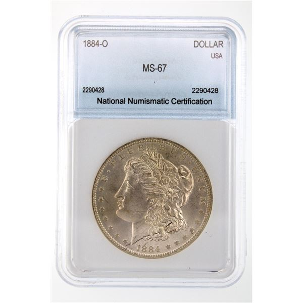 1884-O Morgan Silver Dollar NNC MS-67  Price Guide $3000 STUNNING W/ SOFT TONING!!