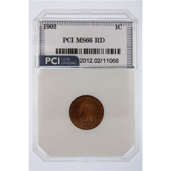 1902 Indian Cent RD PCI MS-66   Price Guide $2000