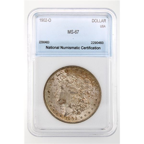 1902-O Morgan Silver Dollar NNC MS-67  Price Guide $8500 BEAUTIFUL W/ EXCELLENT TONING!!