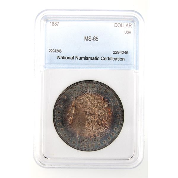 1887 Morgan Silver Dollar NNC MS-65  Price Guide $230