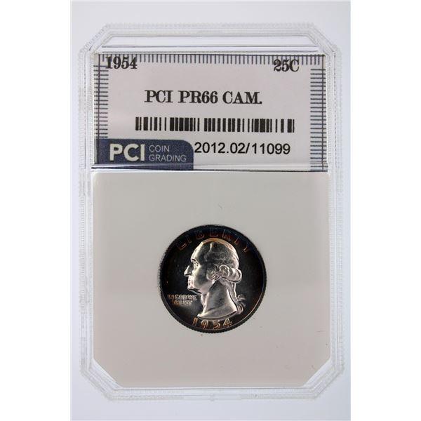 1954 Washington Quarter CAM PCI PR-66  Price Guide $70