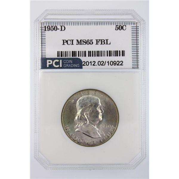 1950-D Franklin Half Dollar PCI MS-65 FBL