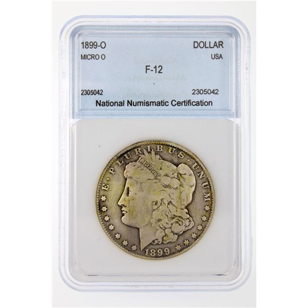 1899-O Morgan Silver Dollar Micro O NNC F-12  Price Guide $55