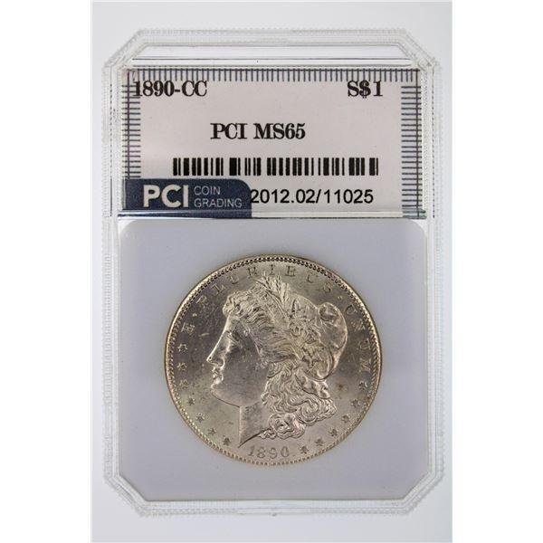 1890-CC Morgan Silver Dollar PCI MS-65  Price Guide $3350