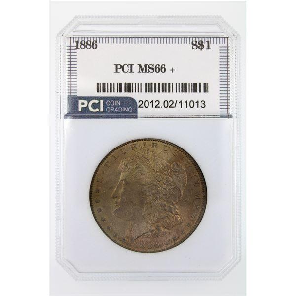 1886 Morgan Silver Dollar PCI MS-66+  Price Guide $700
