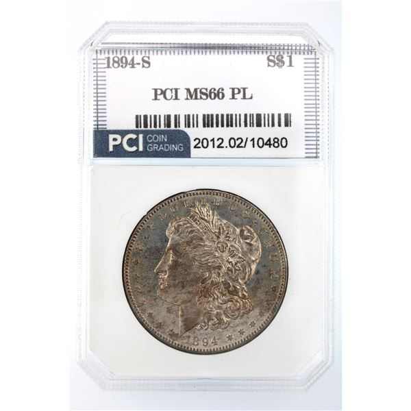 1894-S Morgan Silver Dollar PCI MS-66 PL