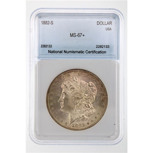 1882-S Morgan Silver Dollar NNC MS-67+  Price Guide $1750