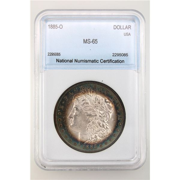 1885-O Morgan Silver Dollar NNC MS-65  Price Guide $230