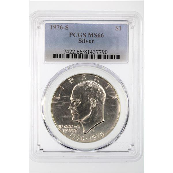 1976-S Ike Dollar PCGS MS-66 Silver