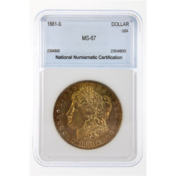 1881-S Morgan Silver Dollar NNC MS-67  Price Guide $1000