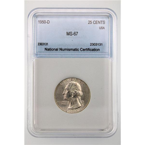 1950-D Washington Quarter NNC MS-67