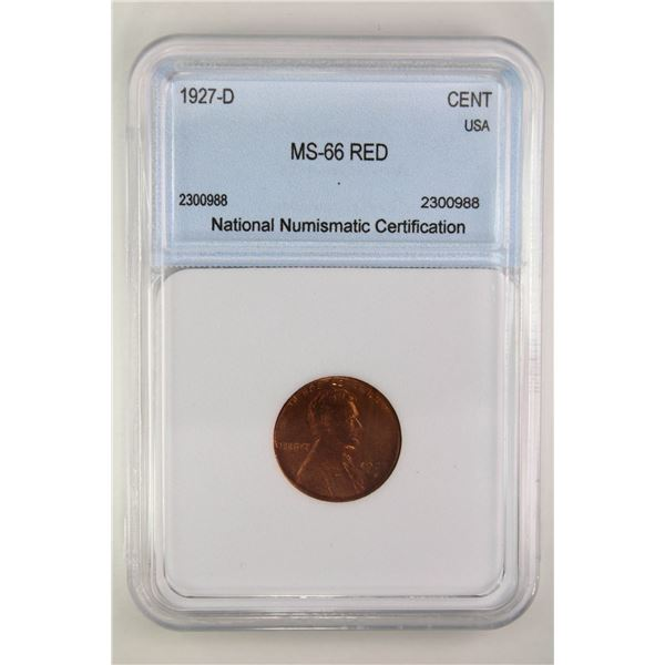 1927-D Lincoln Cent NNC MS-66 Red