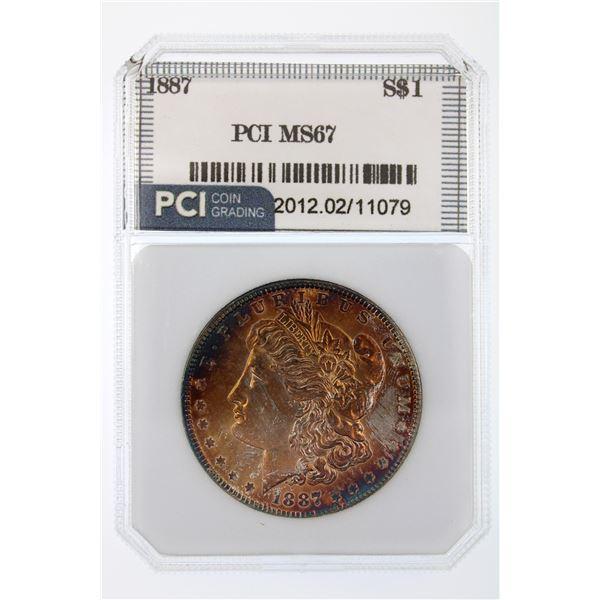 1887 Morgan Silver Dollar PCI MS-67  Price Guide $1600