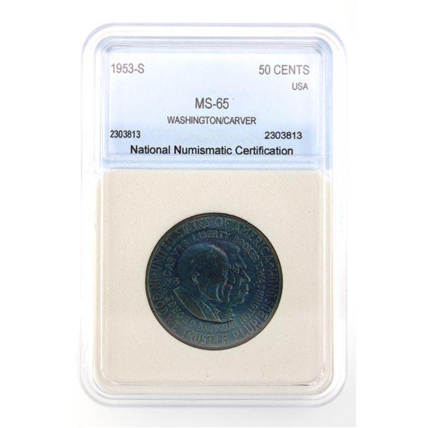 1953-S Washington/Carver Half Dol. NNC MS-65 Silver Commemorative