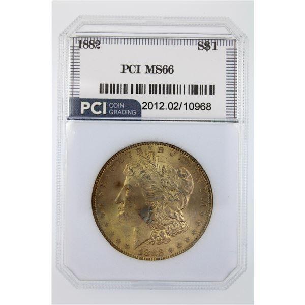 1882 Morgan Silver Dollar PCI MS-66  Price Guide $1250