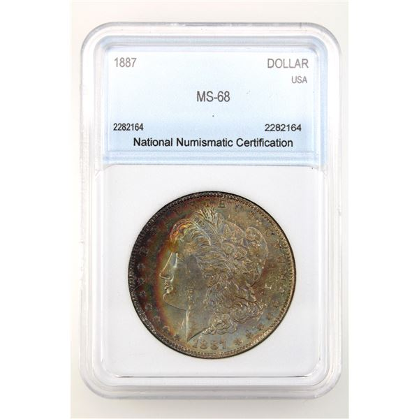 1887 Morgan Silver Dollar NNC MS-68  Price Guide $30000
