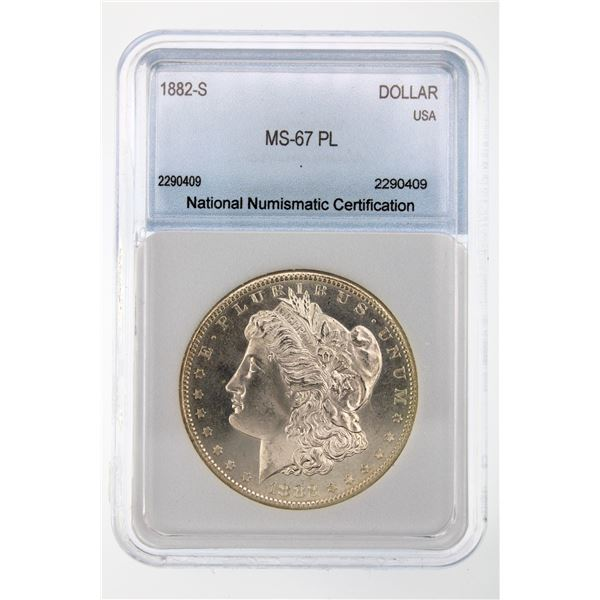 1882-S Morgan Silver Dollar NNC MS-67 PL Price Guide $2150