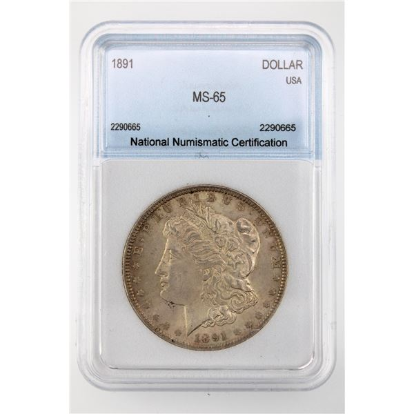 1891 Morgan Silver Dollar NNC MS-65  Price Guide $2500