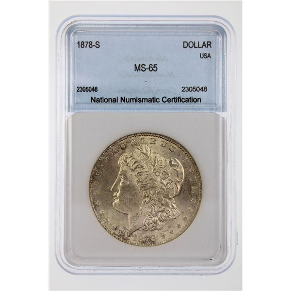 1878-S Morgan Silver Dollar NNC MS-65  Price Guide $400