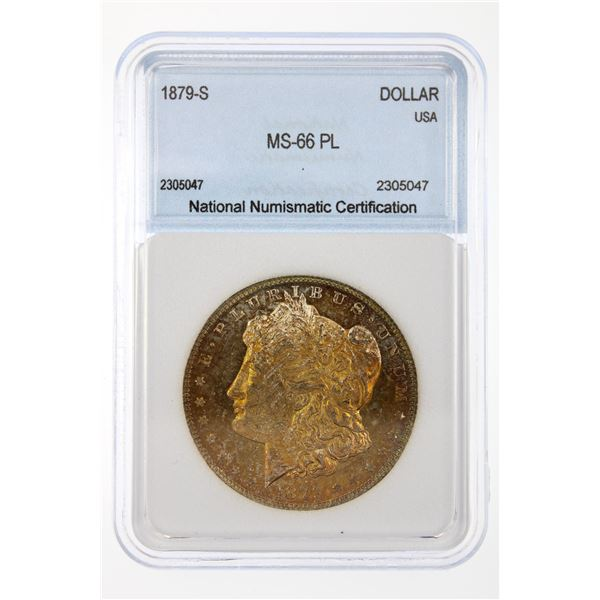 1879-S Morgan Silver Dollar NNC MS-66 PL Price Guide $575