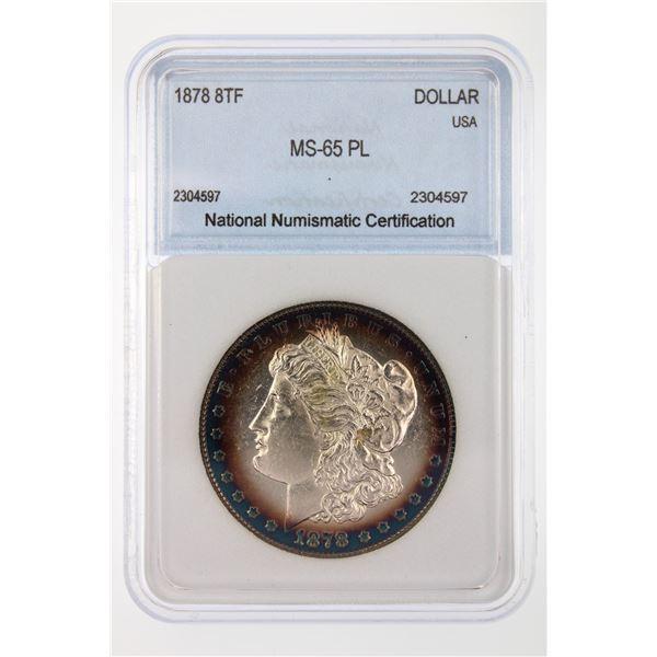 1878 8TF Morgan Silver Dollar NNC MS-65 PL Rare this nice Price Guide $6500