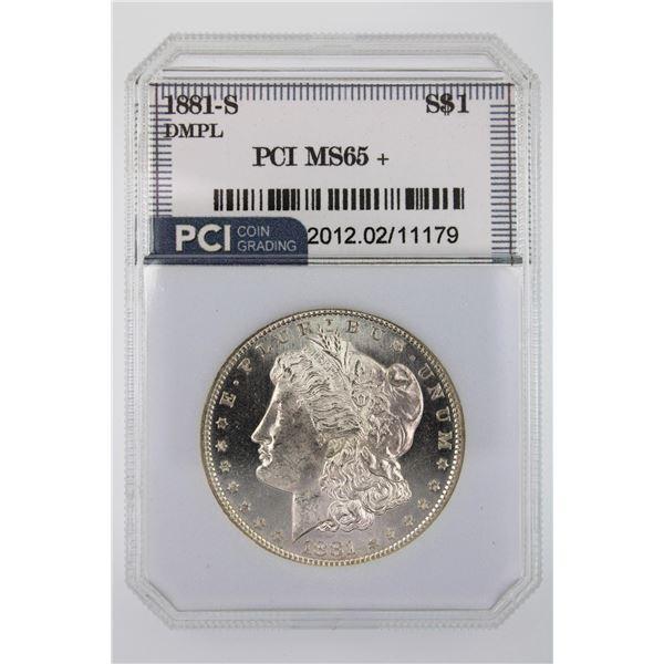 1881-S Morgan Silver Dollar PCI MS-65+ DMPL Price Guide $1500