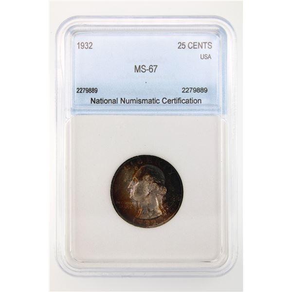 1932 Washington Quarter NNC MS-67 Price Guide $10000