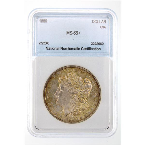 1880 Morgan Silver Dollar NNC MS-66+ Price Guide $5250