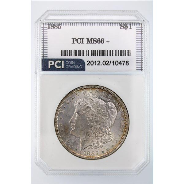 1885 Morgan Silver Dollar PCI MS-66+ Price Guide $625