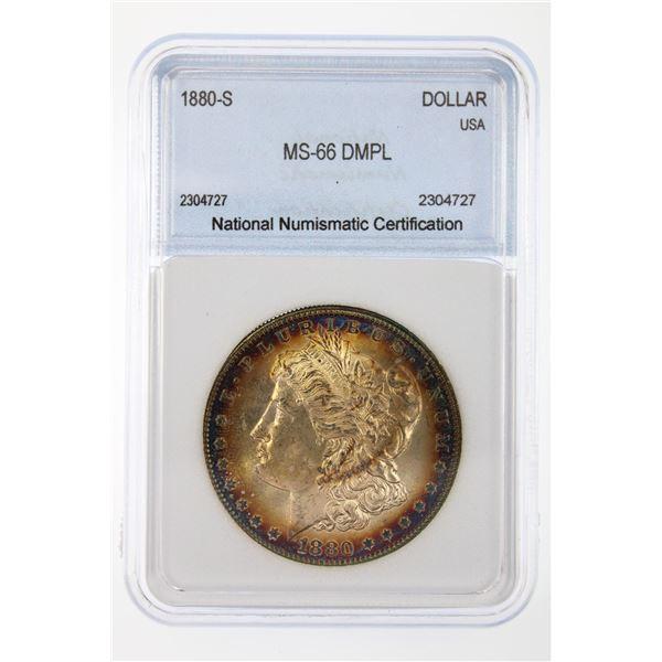1880-S Morgan Silver Dollar NNC MS-66 DMPL Price Guide $2000