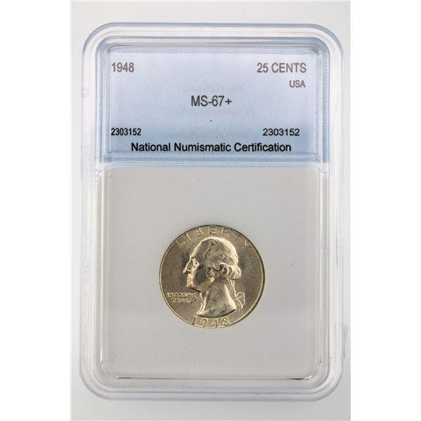 1948 Washington Quarter NNC MS-67+ Price Guide $1400