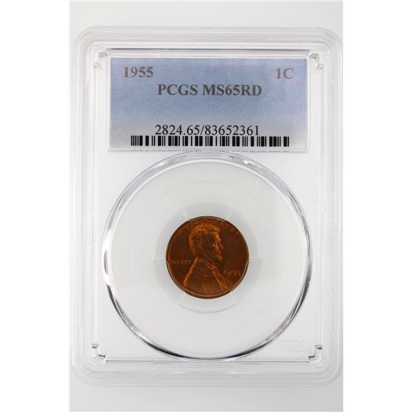 1955 Lincoln Cent PCGS MS-65 RD