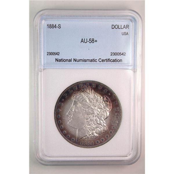 1884-S Morgan Silver Dollar NNC AU-58+