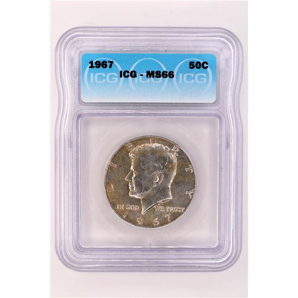 1967 Kennedy Half Dollar ICG MS-66
