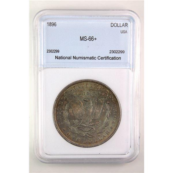 1896 Morgan Silver Dollar NNC MS-66+  Price Guide $650