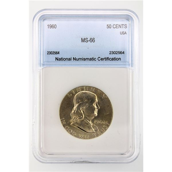 1960 Franklin Half Dollar NNC MS-66