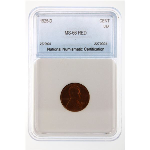 1925-D Lincoln Cent NNC MS-66 Red