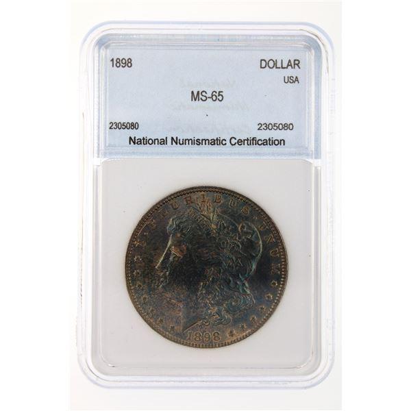 1898 Morgan Silver Dollar NNC MS-65 Nice Color Price Guide $260