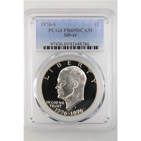 1976-S Ike Dollar PCGS PR-69 DCAM Silver