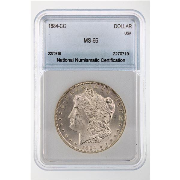 1884-CC Morgan Silver Dollar NNC MS-66  Price Guide $1000