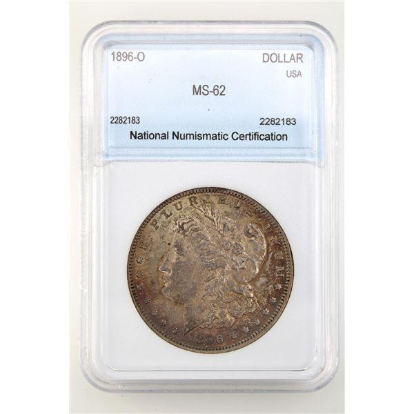 1896-O Morgan Silver Dollar NNC MS-62