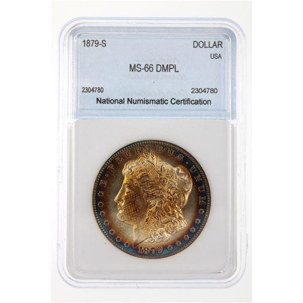 1879-S Morgan Silver Dollar NNC MS-66 DMPL Bag Tone Price Guide $2750