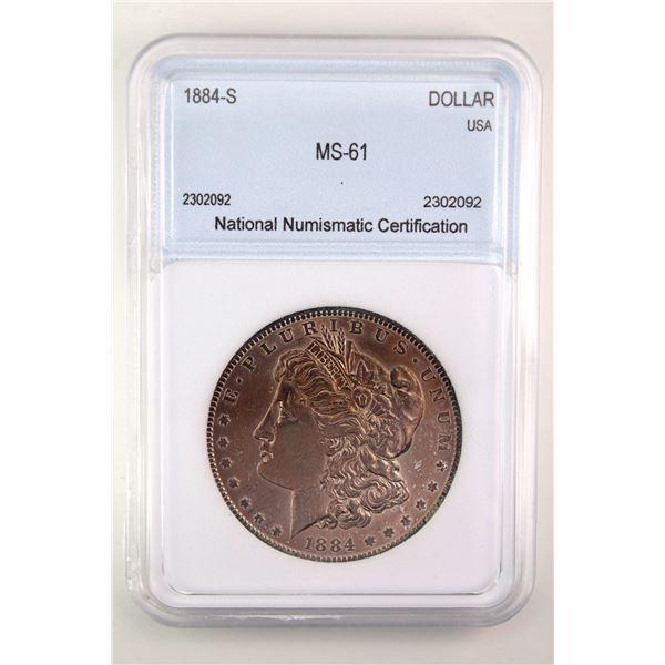1884-S Morgan Silver Dollar NNC MS-61