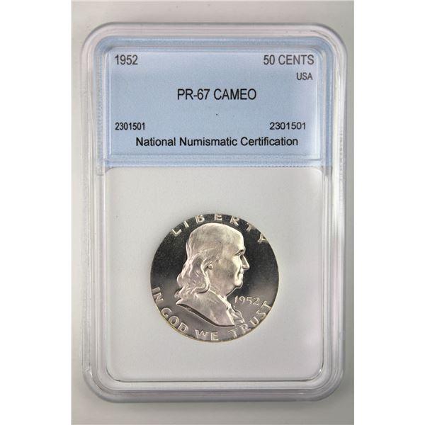 1952 Franklin Half Dollar NNC PR-67 Cameo Price Guide $2250