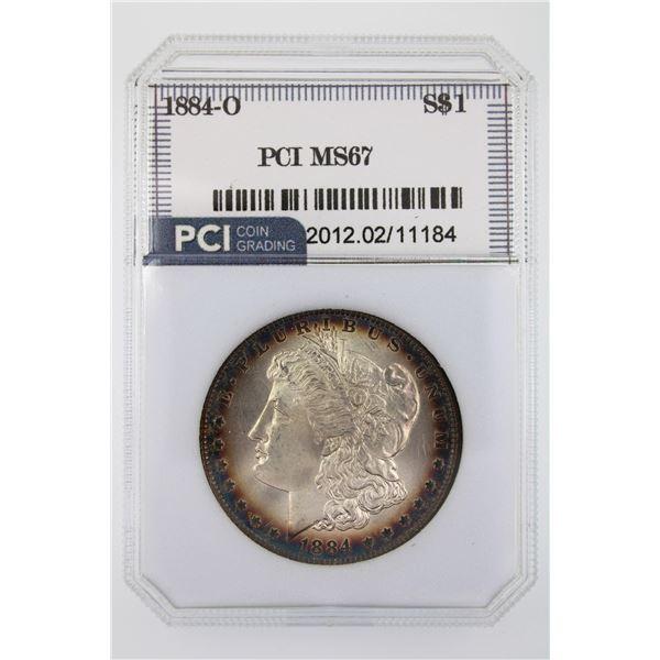 1884-O Morgan Silver Dollar PCI MS-67  Price Guide $3000