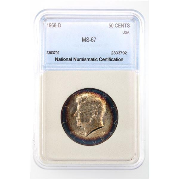 1968-D Kennedy Half Dollar NNC MS-67