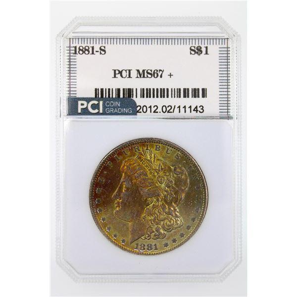 1881-S Morgan Silver Dollar PCI MS-67+ Nice Color Price Guide $1600