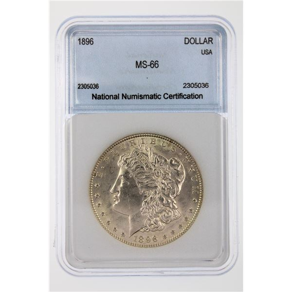1896 Morgan Silver Dollar NNC MS-66  Price Guide $500